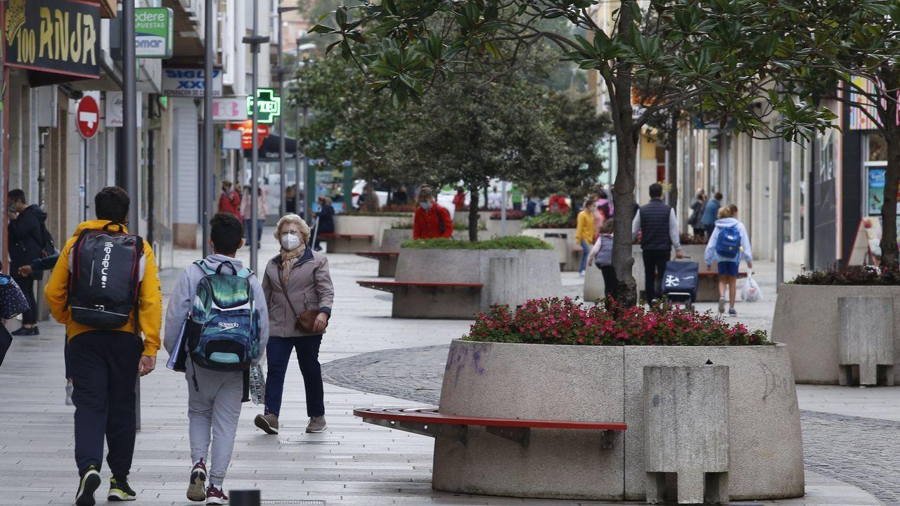 Imagen de la calle peatonal de Arteixo