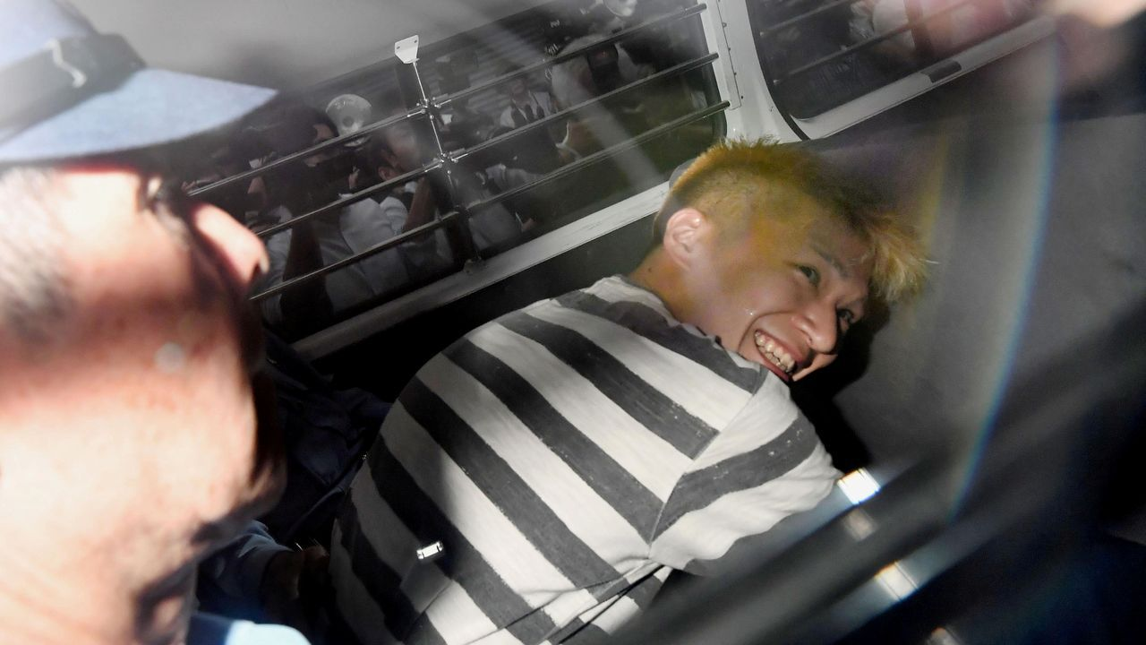 Satoshi Uematsu, de 30 años, durante su detención en el 2016