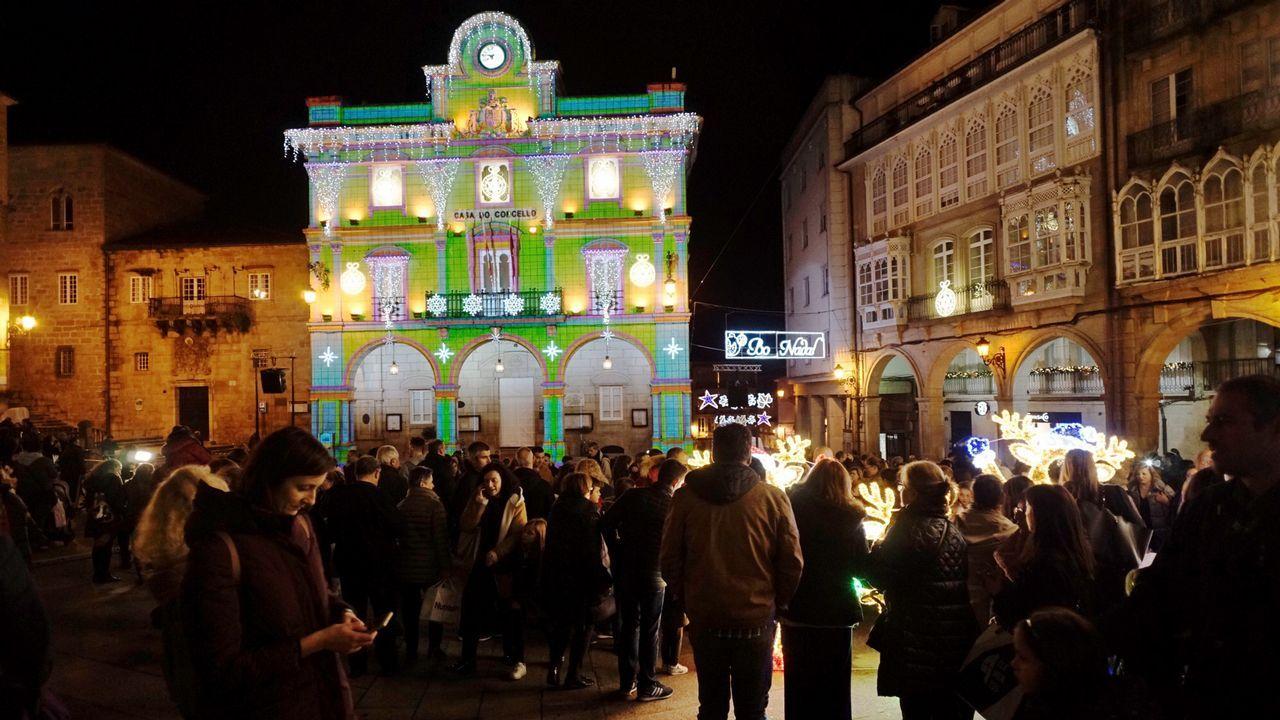 Navidad en Ourense.Videomapping en Ourense