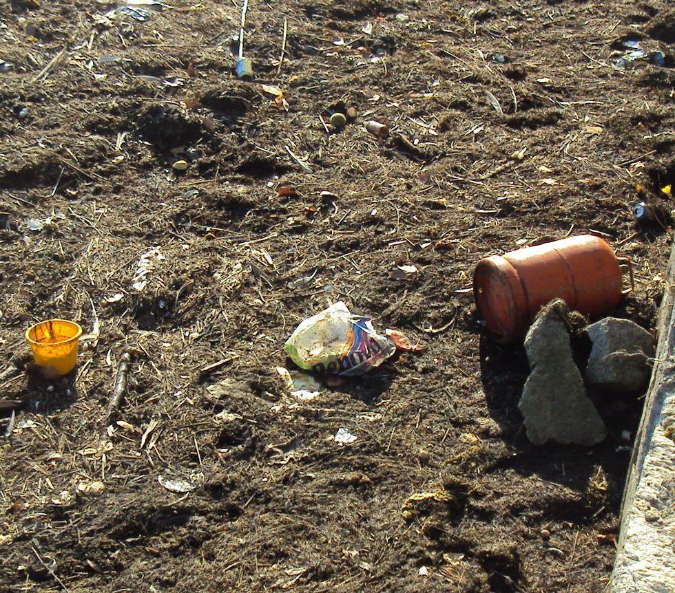 Imágenes tomadas por los técnicos de Medio Ambiente de la Xunta el pasado 7 de septiembre en la ría de O Burgo.