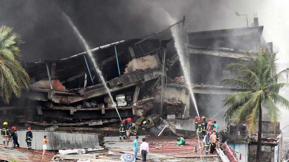 Incendio de una fábrica textil en Bangladesh