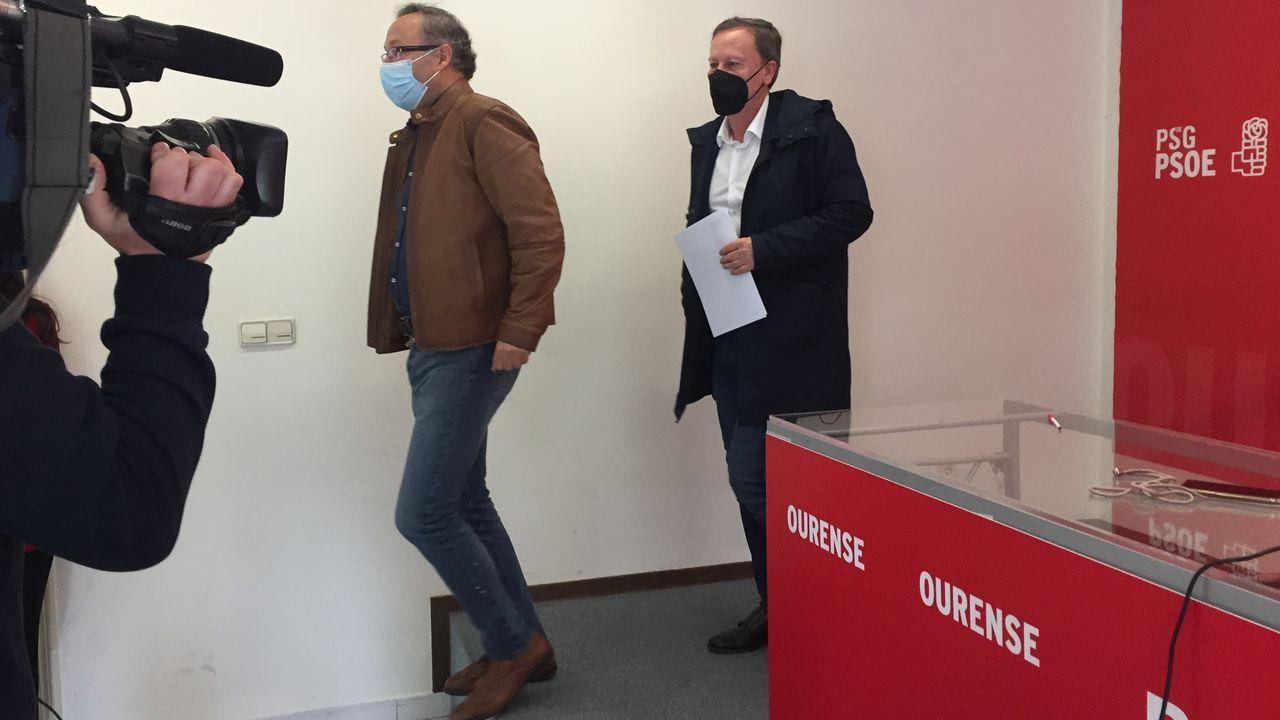 Juan Carlos Francisco acompañó a Rodríguez Villarino en su rueda de prensa de este lunes