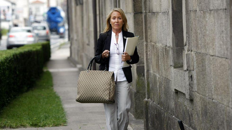 Marina Castaño, en la última sesión del juicio