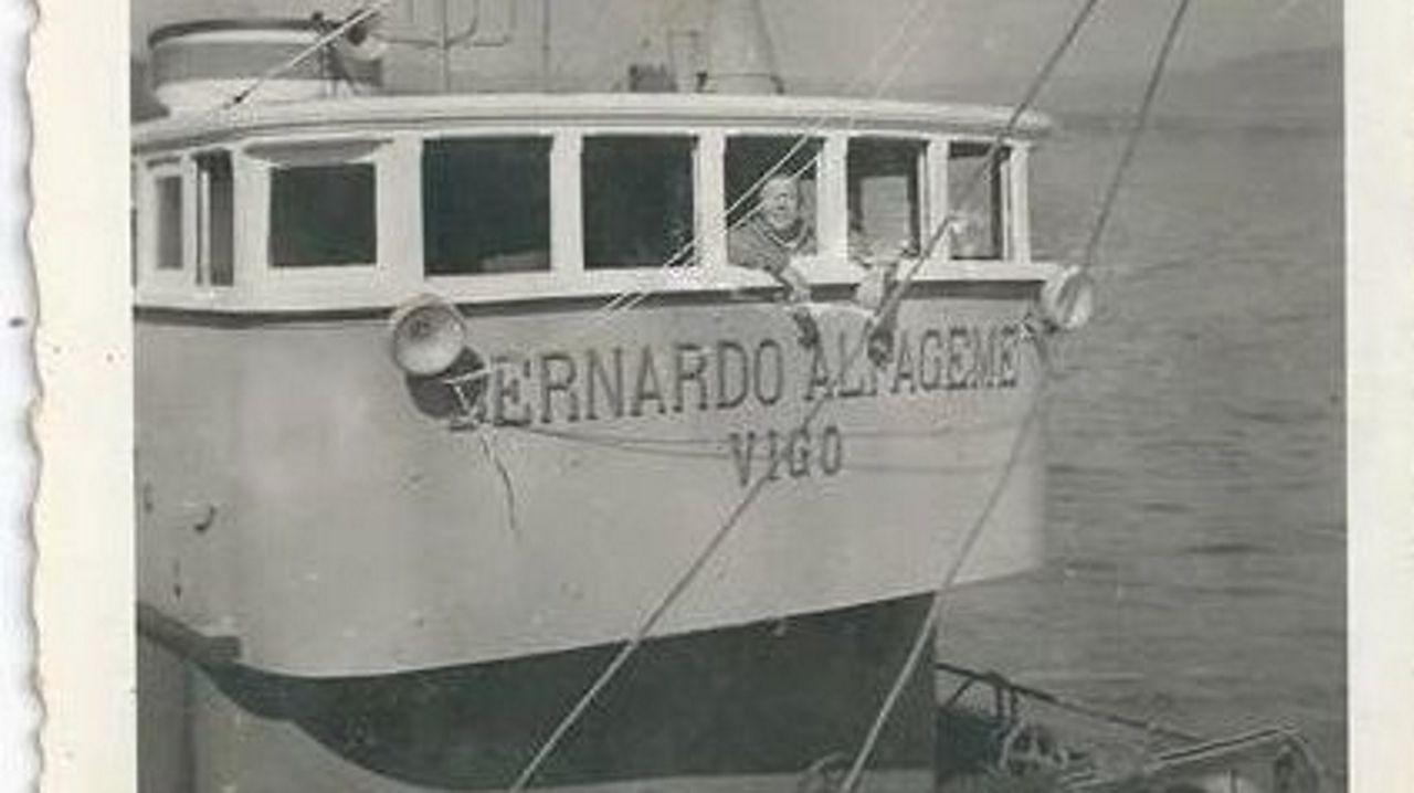 Francisco Curujeiras, patrón del Bernardo Alfageme. Archivo de la familia Curujeiras extraido de www.memoriadomar.com datada años 40-50