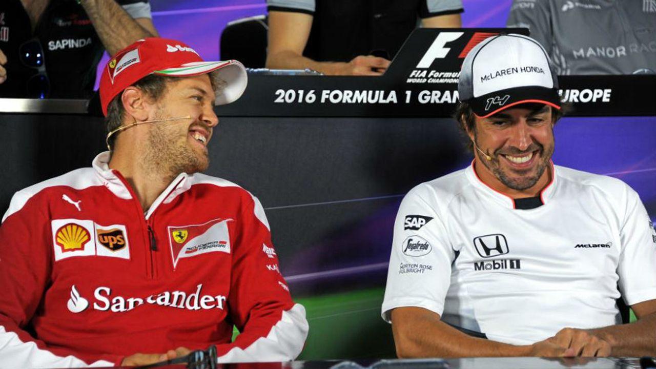 Vettel y Alonso en 2016