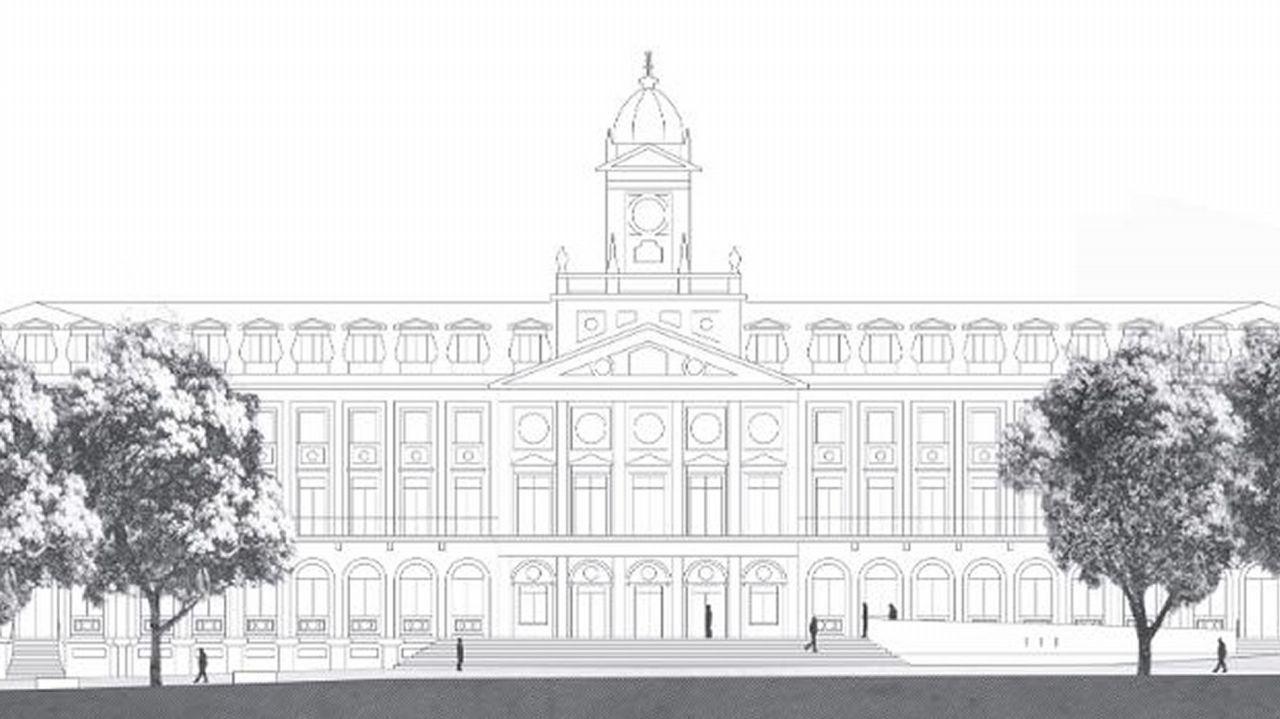 Anteproyecto ganador del concurso de la plaza de Armas, presentado bajo el lema Lugar de todas
