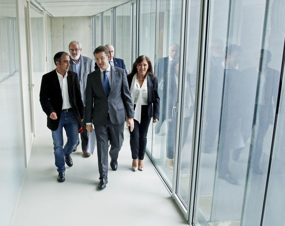 Feijoo presidió el acuerdo con los agentes sociales.