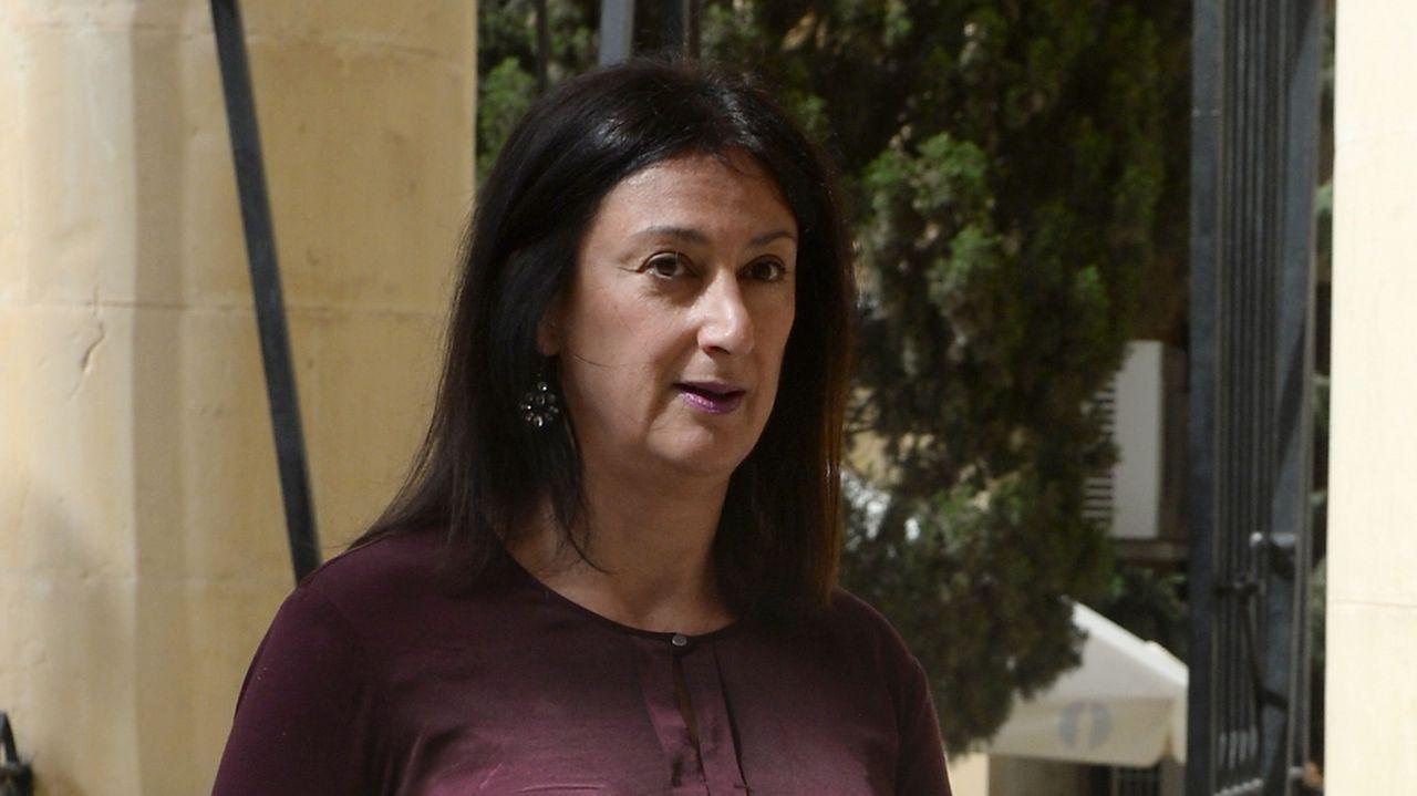 La periodista Daphne Caruana en abril de 2017
