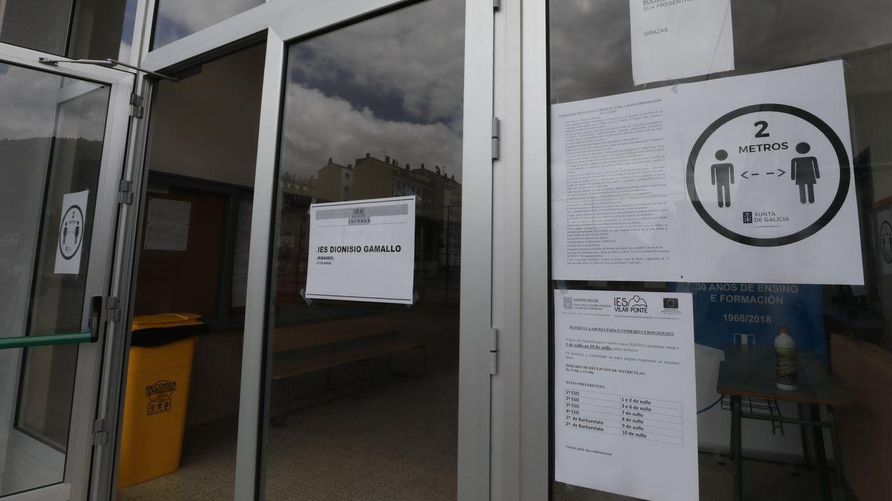 El IES Vilar Ponte acogerá entre mañana y el jueves la ABAU después de que Sanidade diese luz verde a la celebración de la prueba