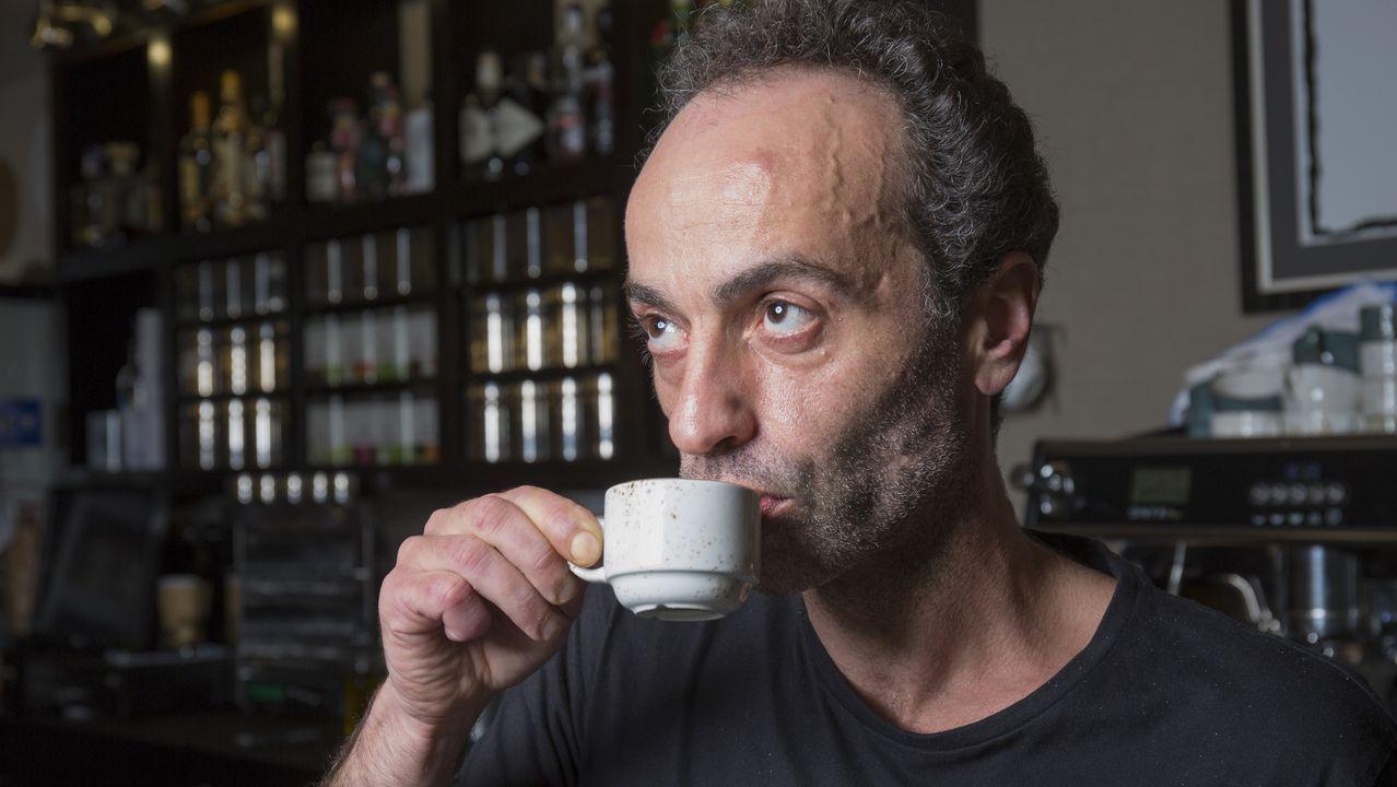 El mejor café de Carballo a un euro.El «Pincho Virtual» que presenta el chef del establecimiento ovetense
