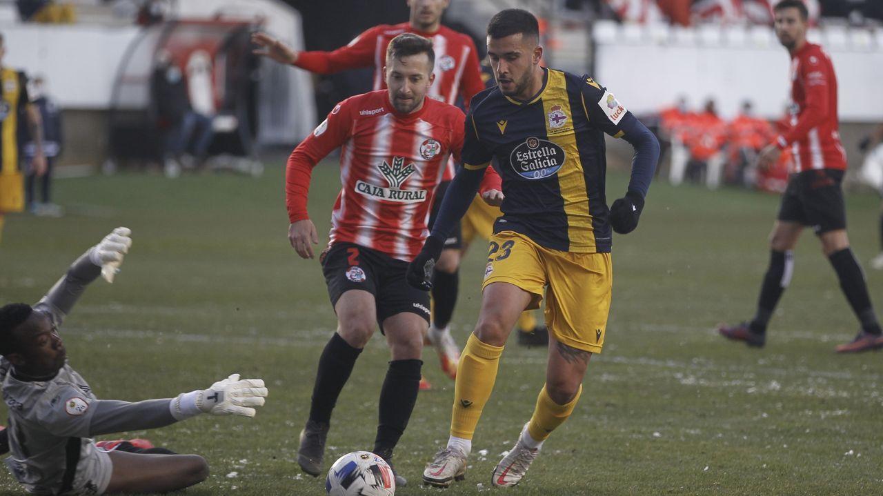 Adri Castro, en el partido contra el Zamora