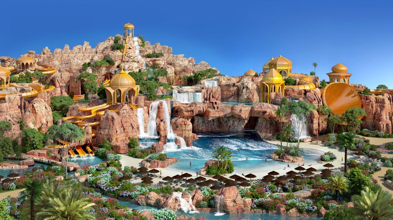 Recreación de un parque acuático en Oriente Medio de la empresa que diseñó el espacio de Monterrei
