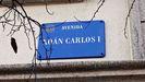 Placa colocada en la actual avenida de Juan Carlos I, en Pontevedra