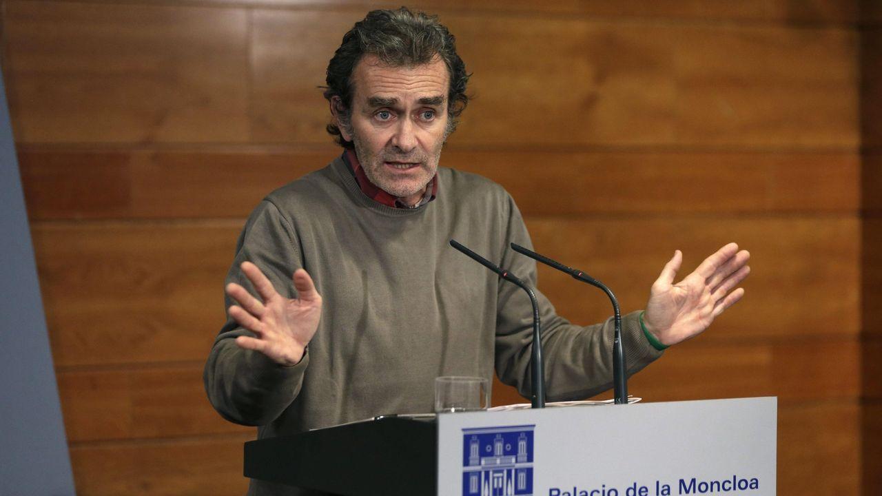 Fernando Simón en noviembre del 2014, durante una rueda de prensa en el Palacio de la Moncloa, durante la crisis del ébola