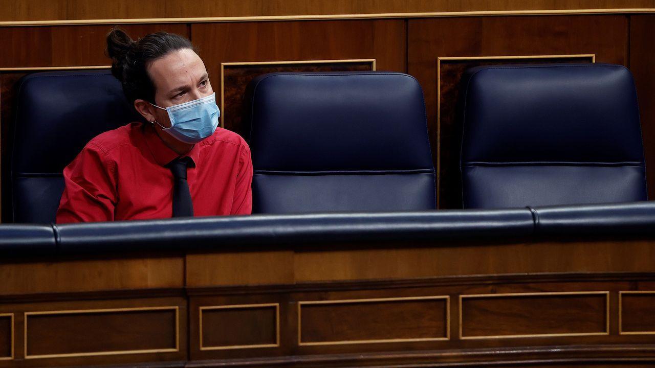 En directo: La última sesión de control al Gobierno con Pablo Iglesias.Maria Jesús Montero, Pablo Iglesias y José Luis Ábalos, en una imagen de archivo