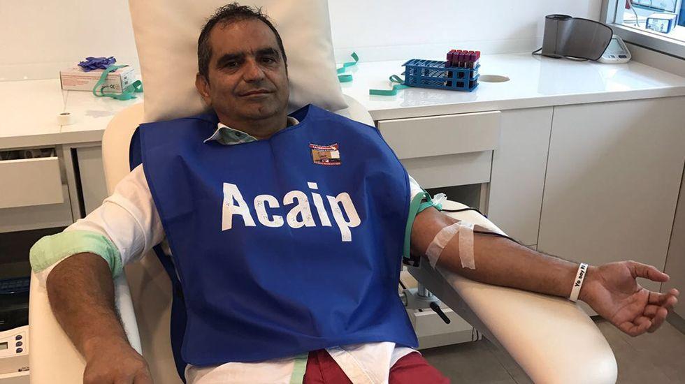 El accidente mortal de su marido podría cambiar el código penal.José Luis Pascual, presidente nacional de Acaip, donando sangre