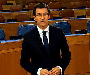 Feijoo pronunció el discurso de fin de año desde el Parlamento