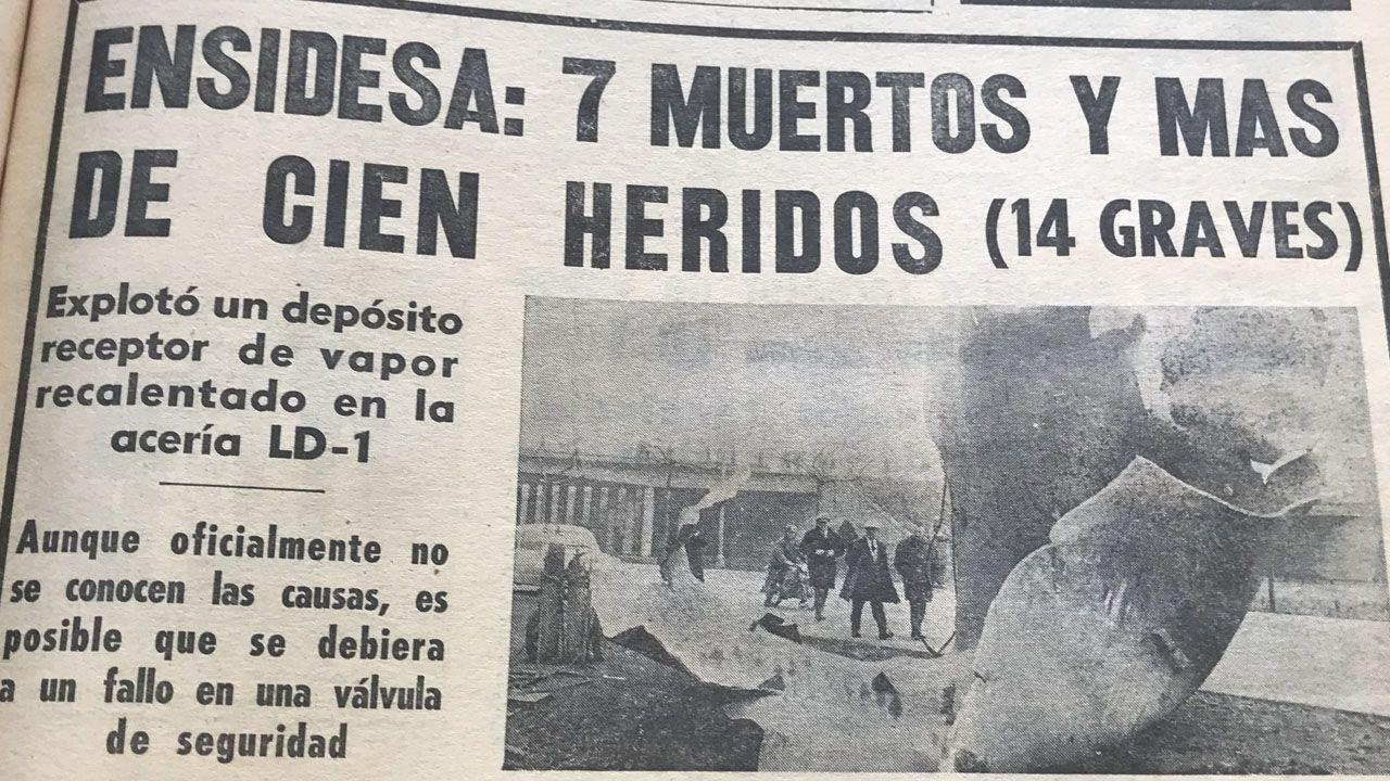 Cuando en Avilés llovieron piezas de metal que pesaban toneladas.Adrián Barbón, Santiago García Granda y Juan Antonio Pérez Simón