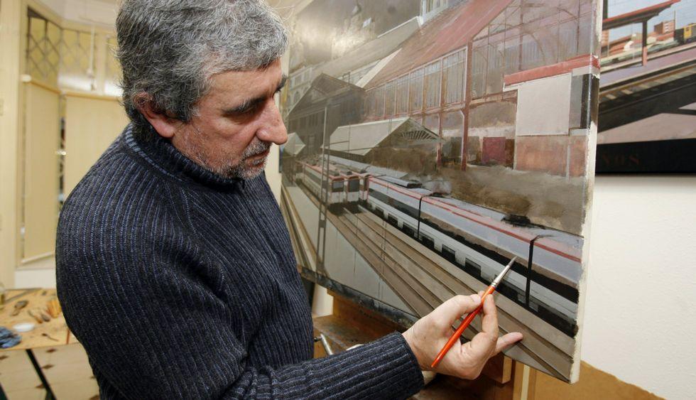 Xoán Guerreiro, pintor de recoñecida traxectoria, expón en Lugo onde comezou.