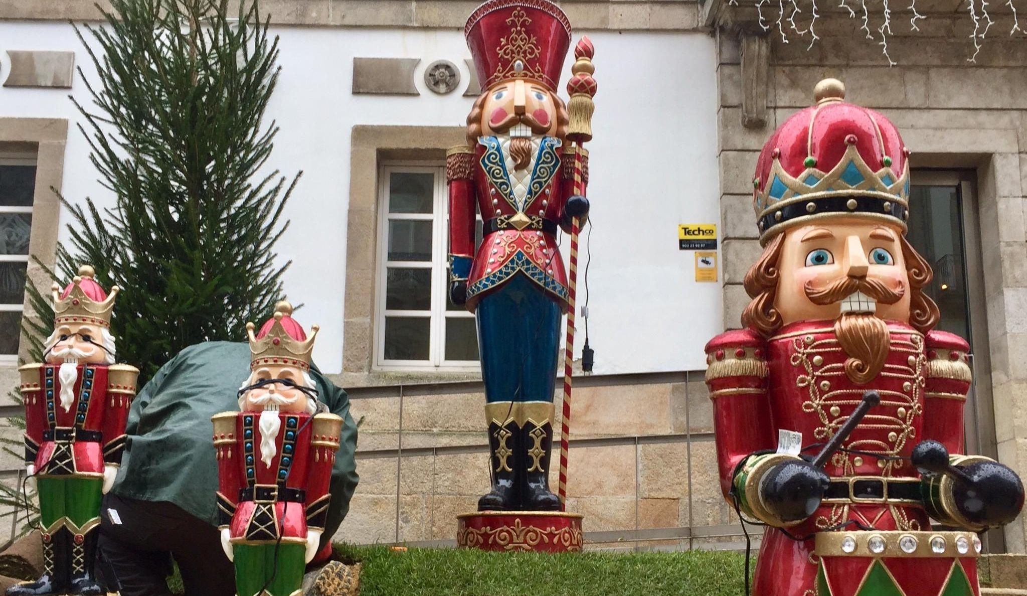 Así son los decorados de Navidad de Vigo de Príncipe