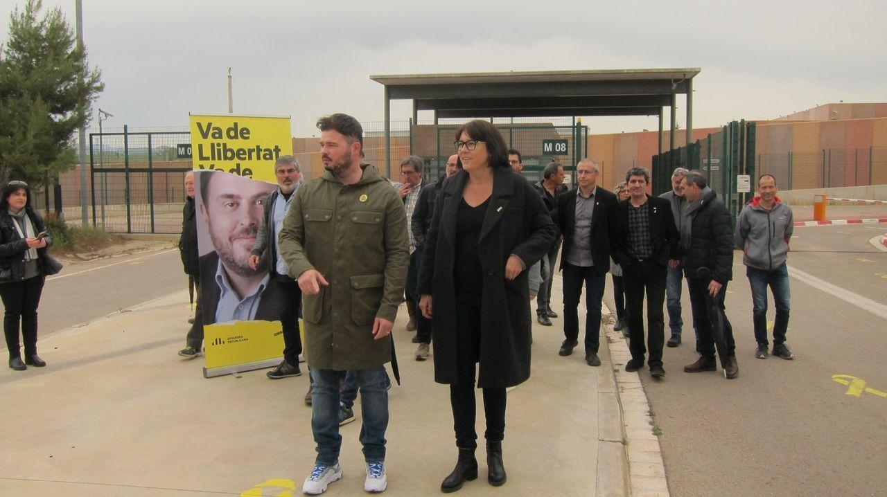 Rufián pidió el voto para ERC desde Lledoners el pasado mes de abril