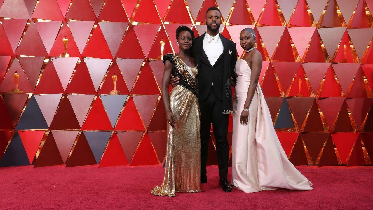 Lupita Nyong'o, Winston Duke y Danai Gurira