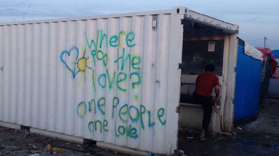 Campo de refugiados de Calais.Andreu Missé