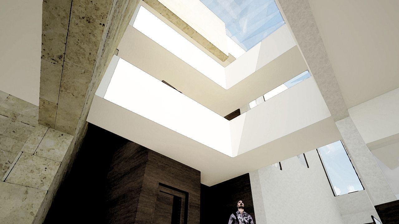 El patio interior del futuro Centro Cultural Santa Ana