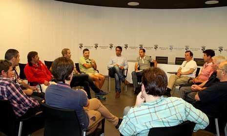 Representantes de distintos colectivos lalinenses se reunieron la tarde del jueves con Rodríguez y Varela.