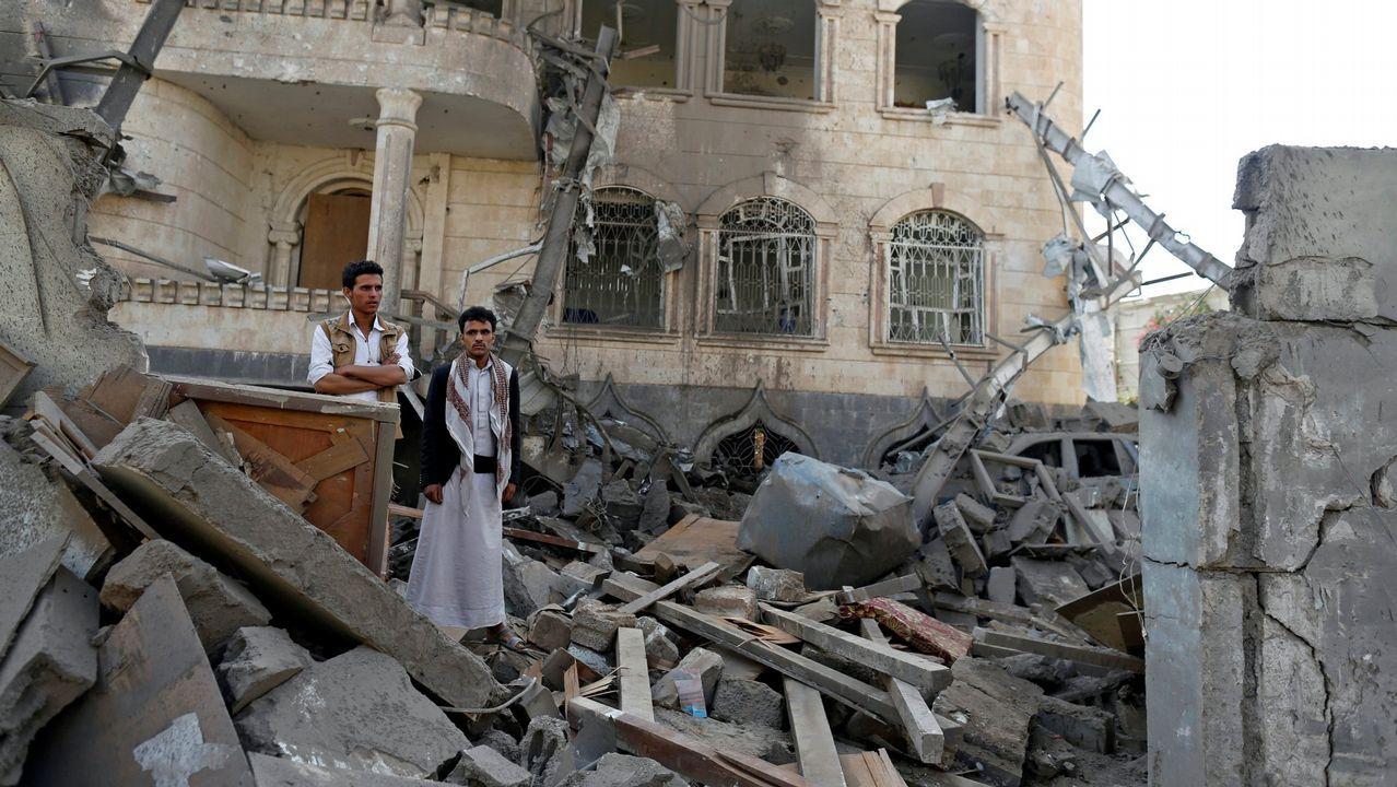 Fin al mes sagrado de los musulmanes.Imagen de un reciente bombardeo en Yemen