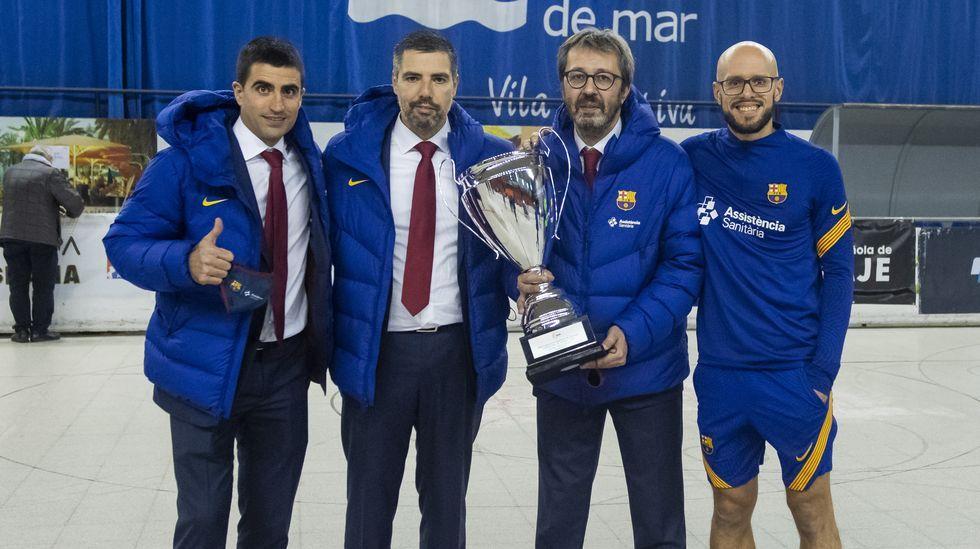 A la presentación del campeonato acudieron Manuel Pérez, Gonzalo Pérez Jácome, Alberto Estévez y Roberto Baratta
