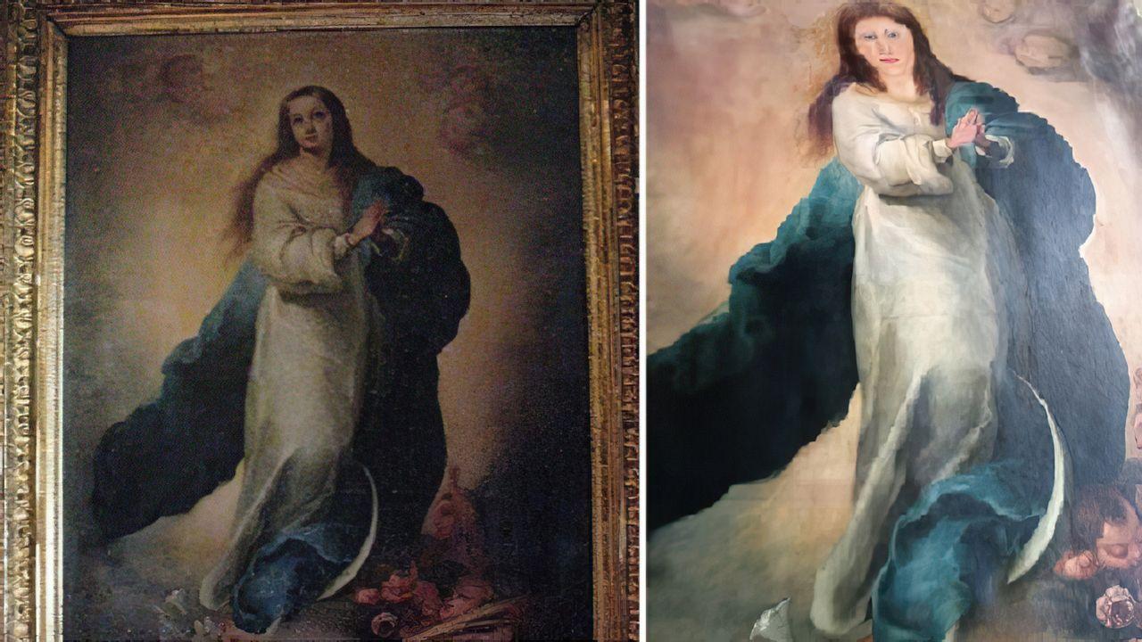 La pintura, antes y después de la intervención del restaurador de muebles