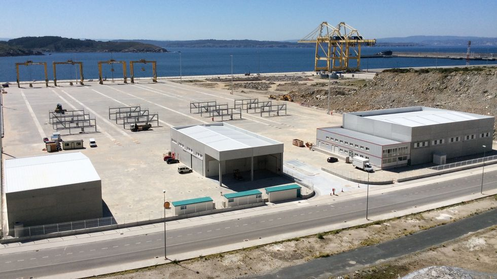 Vista actual de la terminal de contenedores de FCT