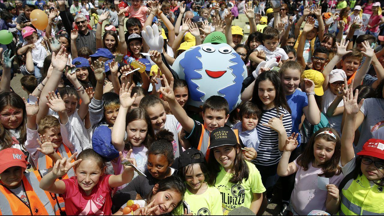 Cientos de niños disfrutan de la fiesta de Voz Natura