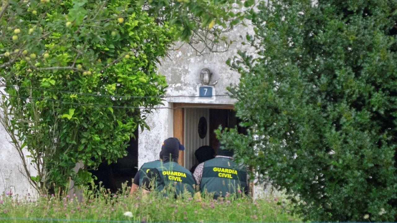 Registro de la Guardia Civil en la casa en la que vivía la mujer en julio del 2019