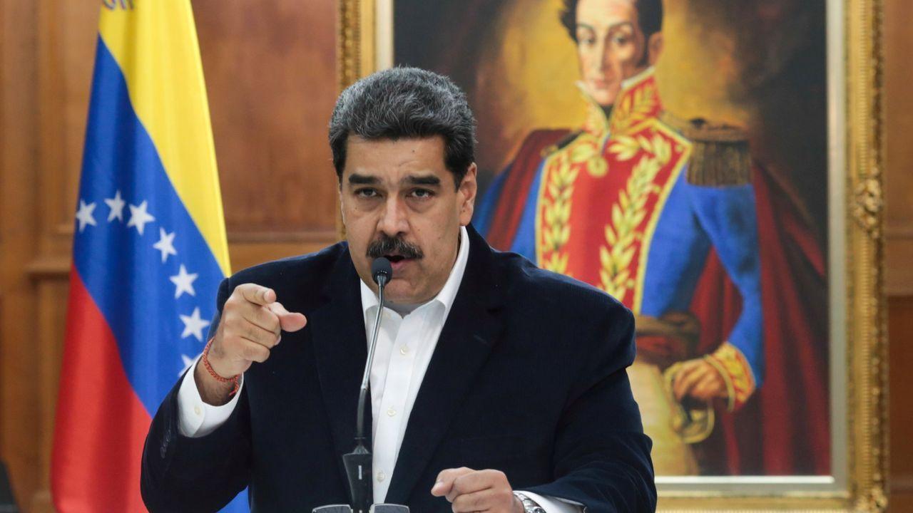 Nicolás Maduro, durante un discurso en el palacio de Miraflores, en Caracas