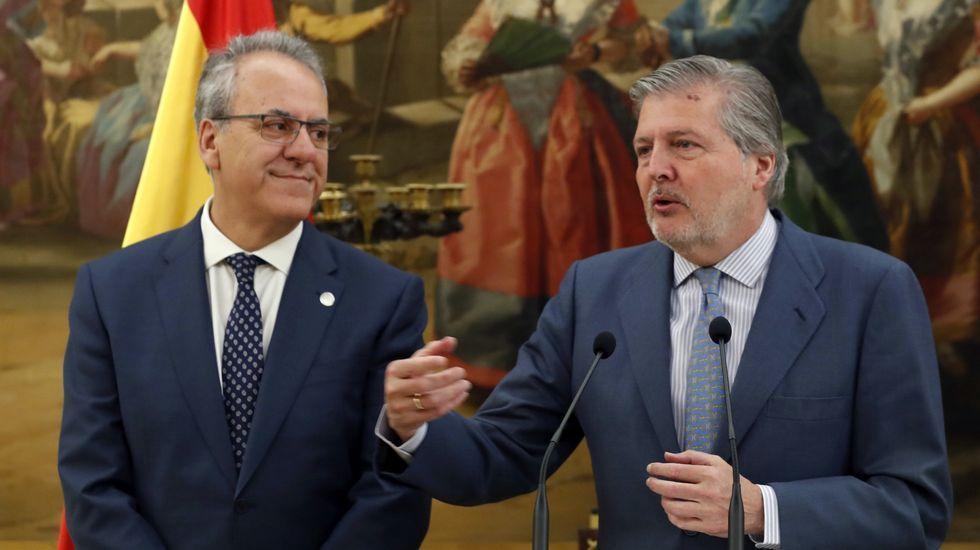 El ministro de Educación, Íñigo Méndez de Vigo, recibió al presidente de CRUE, Segundo Píriz