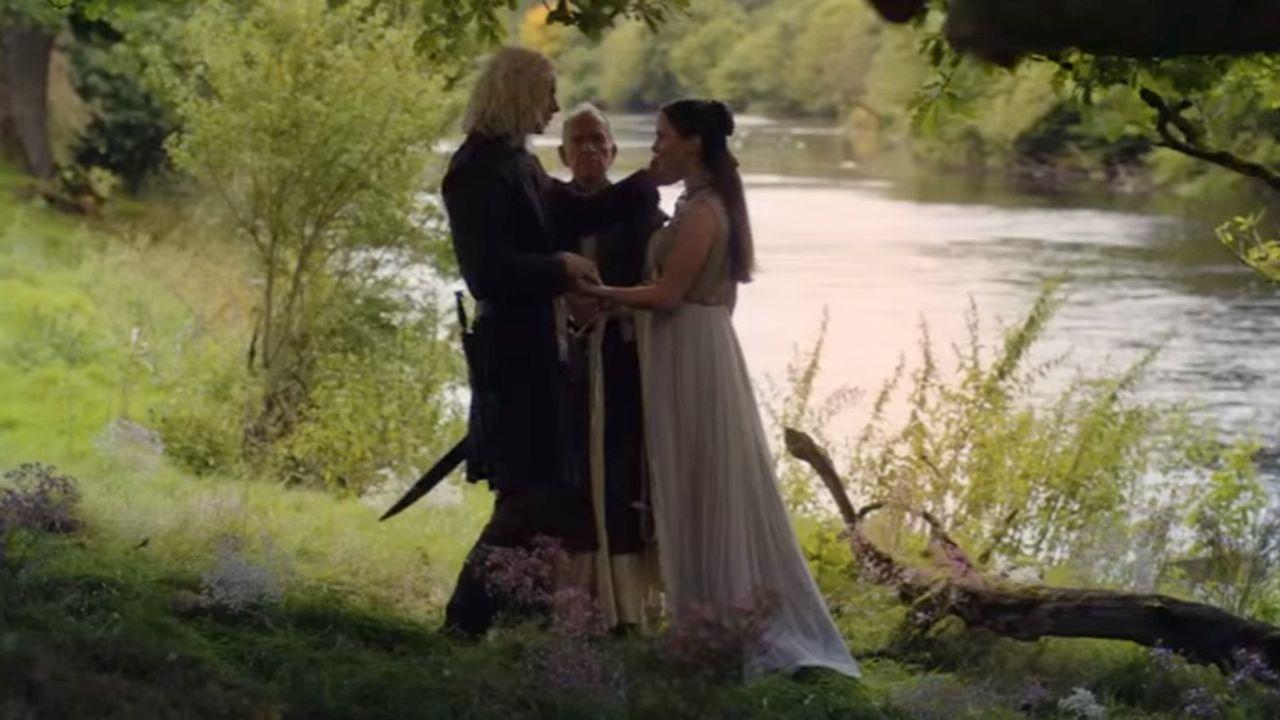 El príncipe heredero, Rhaegar, se casa con Lyanna en Dorne