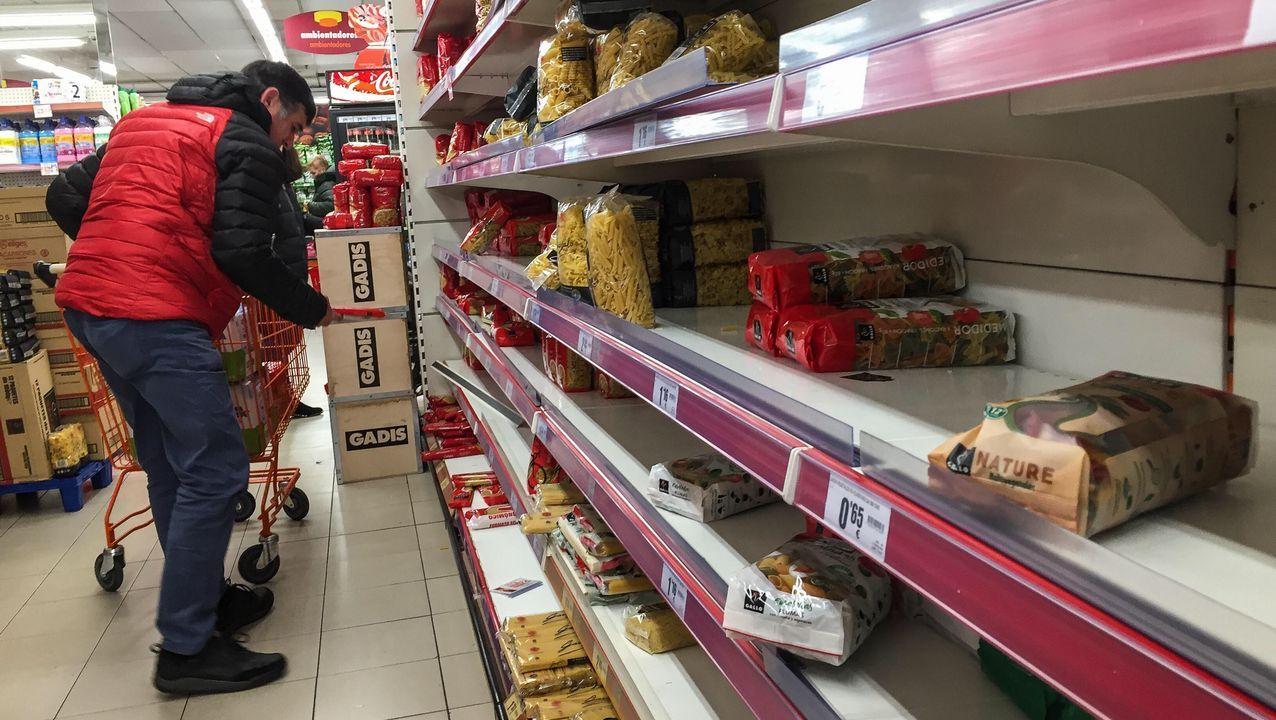 También muchos tipos de pasta se han agotado en los supermercados.