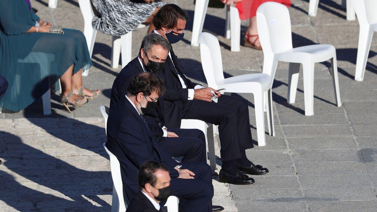 Los expresidentes del Gobierno José María Aznar, José Luis Rodríguez Zapatero y Mariano Rajoy