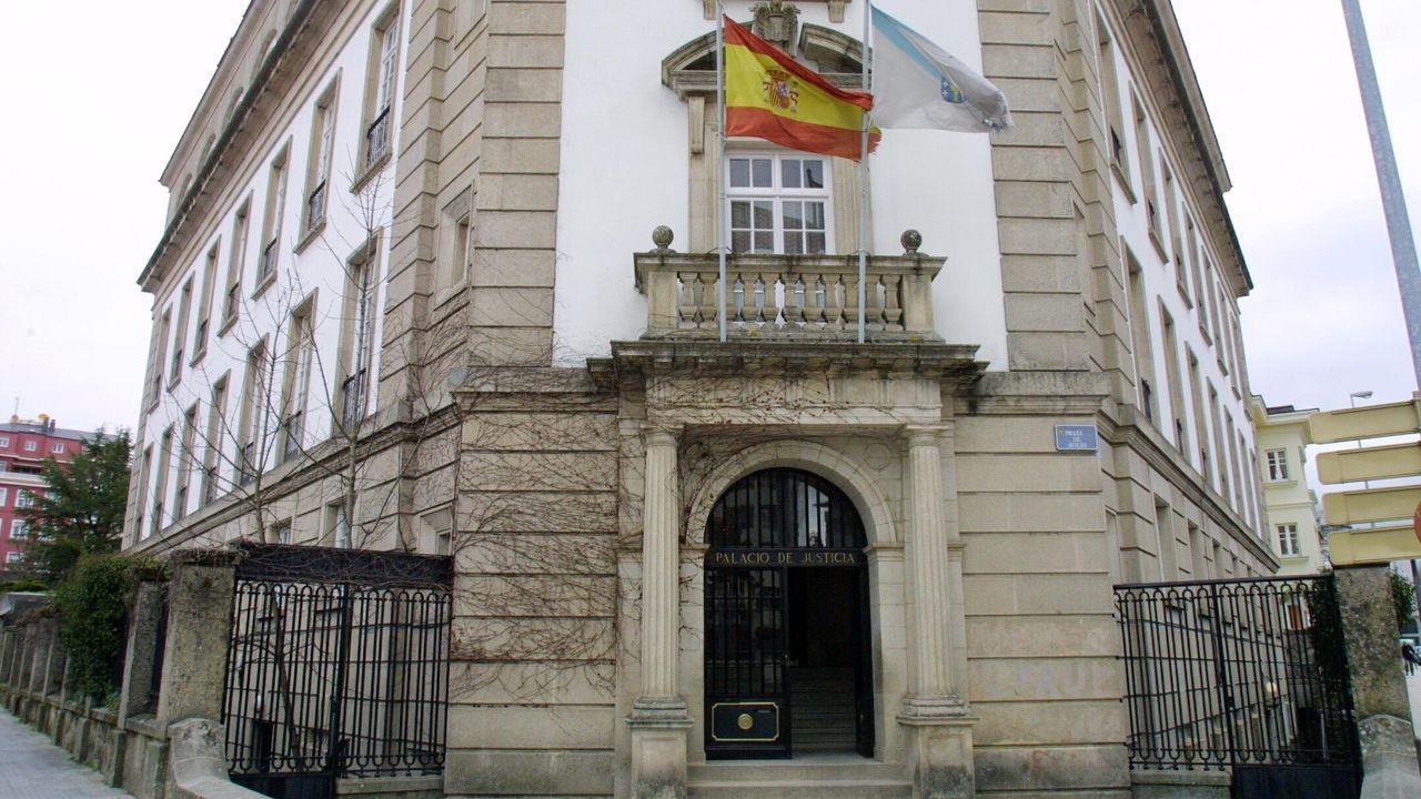 Imagen de archivo de la Audiencia de Lugo, donde este lunes ha sido juzgado el acusado de violar a una mujer el pasado verano en Foz