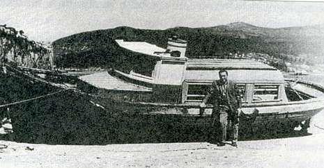 Esta fue la lancha del accidente, tomada del libro Naufraxios no mar de Vigo, de Francisco Díaz Guerrero.