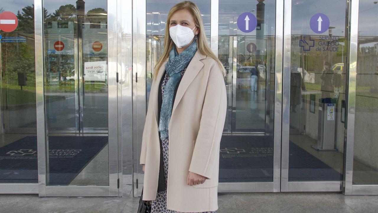 Mariví Pérez Corral, profesora en el Isaac Peral, se vacunó este miércoles