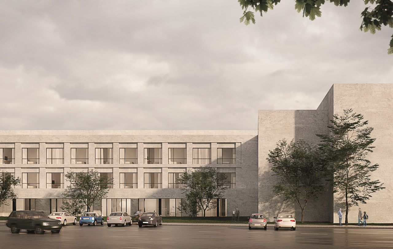 Imagen aproximada de la residencia de la tercera edad que la Xunta y la Fundacion Amancio Ortega construirán en el antiguo solar de la residencia sanitaria de Lugo
