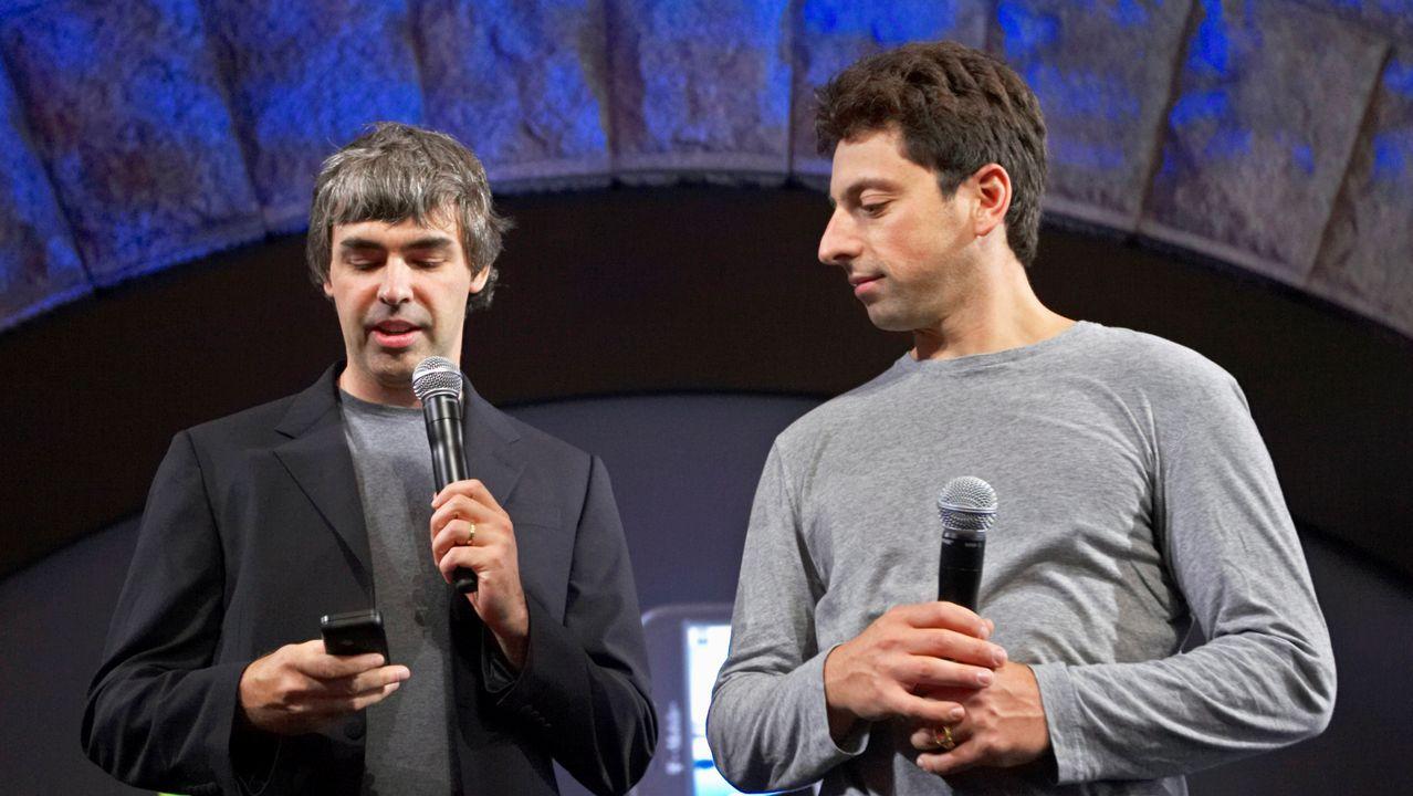 Larry Page (izquierda) y Sergey Brin (derecha), cofundadores de Google