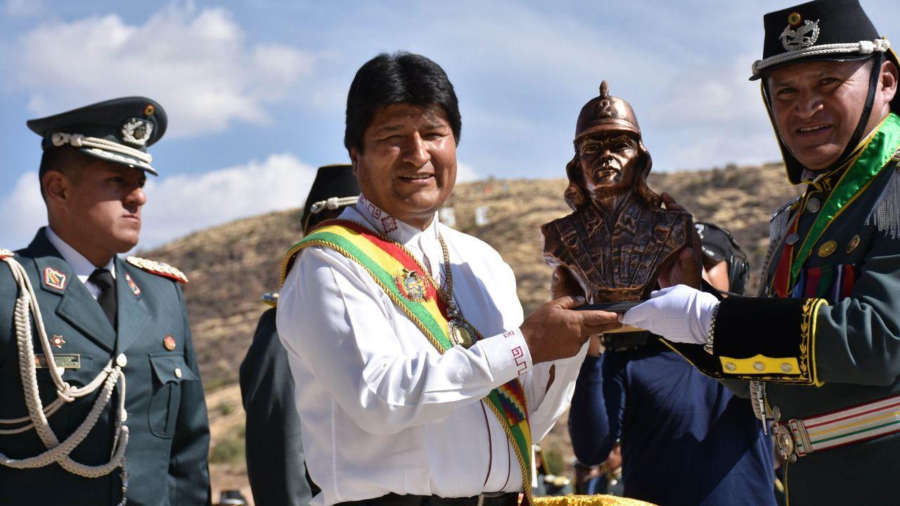 El presidente de Bolivia, Evo Morales, durante un acto el pasado día 23 en Tarata