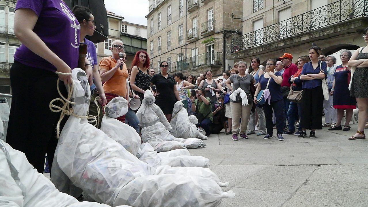 Concentración en Ourense contra la libertad condicional de La Manada