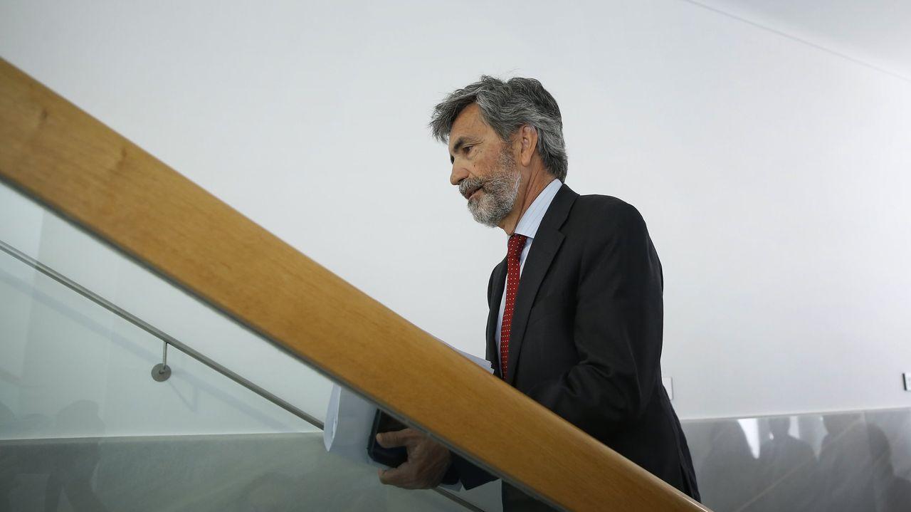Núñez Feijoo, esta mañana, de visita en las instalaciones de Clesa, en Caldas de Reis