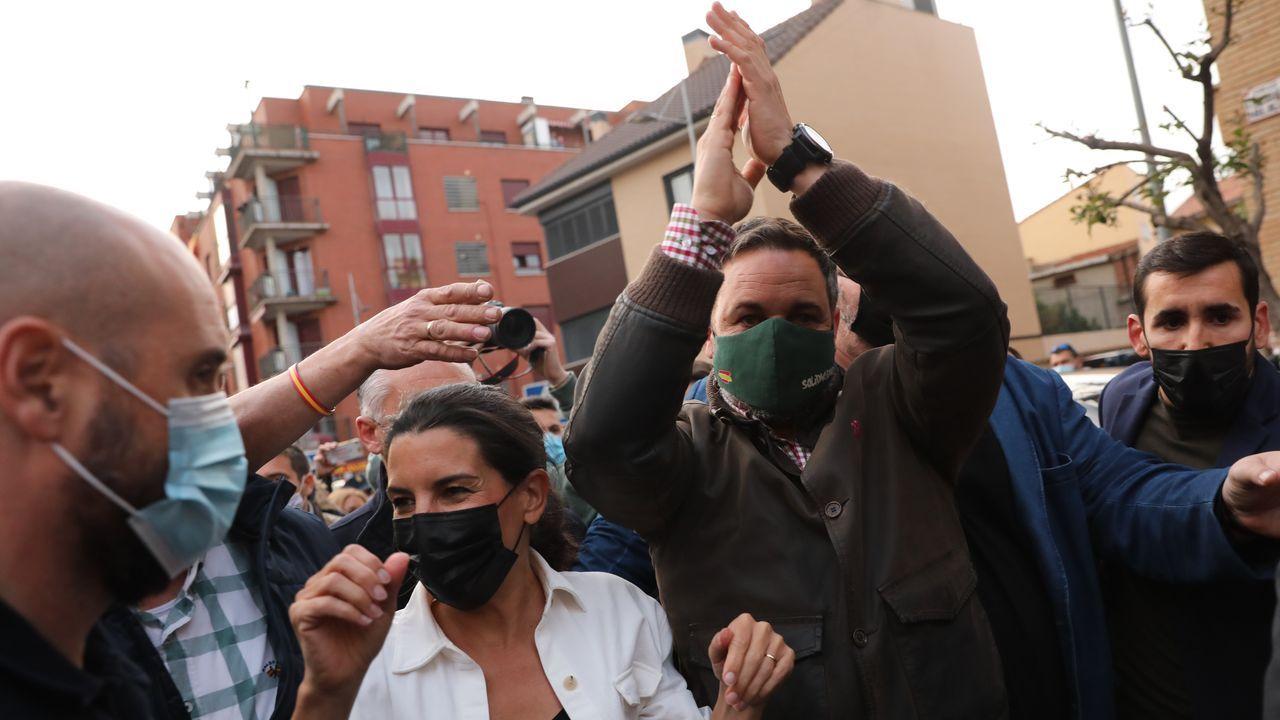 Santiago Abascal y Rocío Monasterio, este viernes, en un mitin de Vox