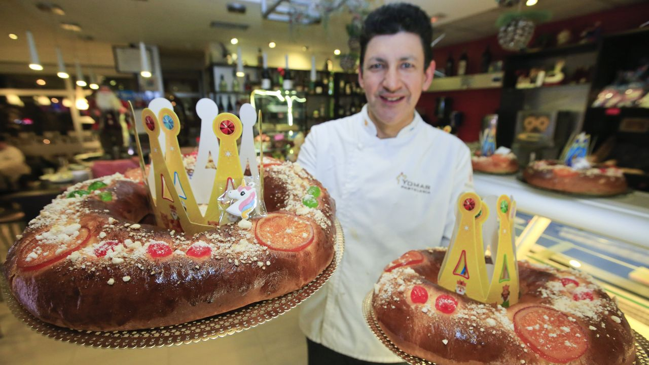Honorio, al frente de Pastelería Yomar, explica que harán más de 800 roscones en apenas unos días